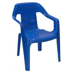 Childrens Plastic Chair - Blue